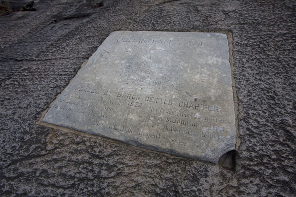 Slab of stone marking the Old Indian Trail on Stone Mountain | Atlanta | Stati Uniti