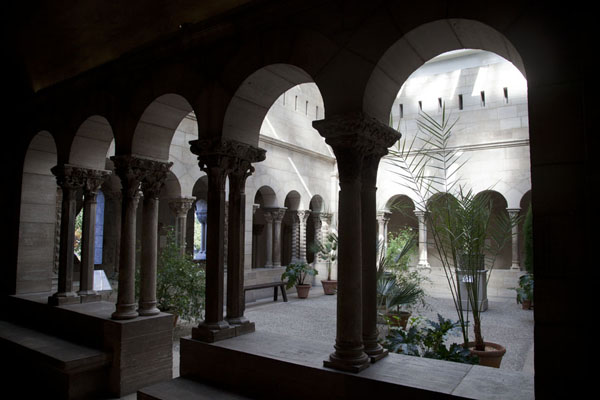 Picture of Saint Guilhem Cloister, taken from the Saint Guilhem-le-Désert monastery in Aquitaine, FranceNew York - U.S.A.