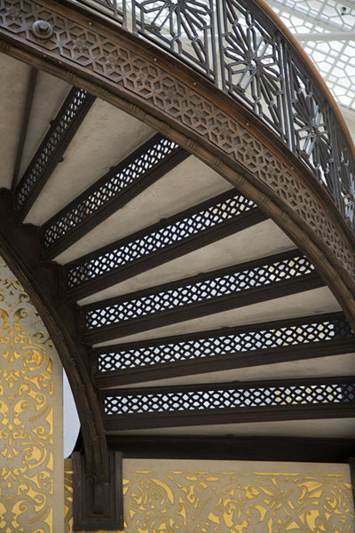 Picture of Richly decorated staircase seen from below