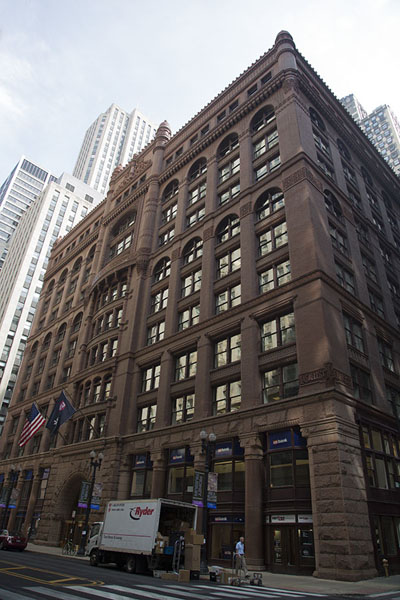 Picture of The Rookery seen from the corner of LaSalle and Quincy StreetChicago - United States