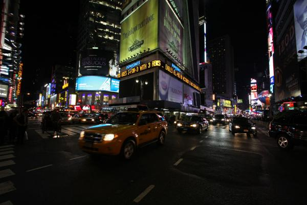 Picture of Times Square (U.S.A.): Late evening traffic at Times Square