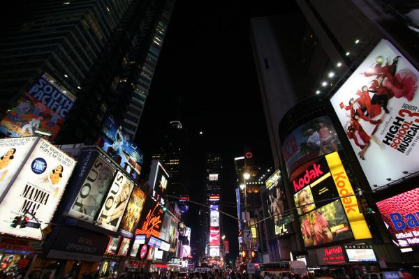 Picture of Advertising jungle at Times Square
