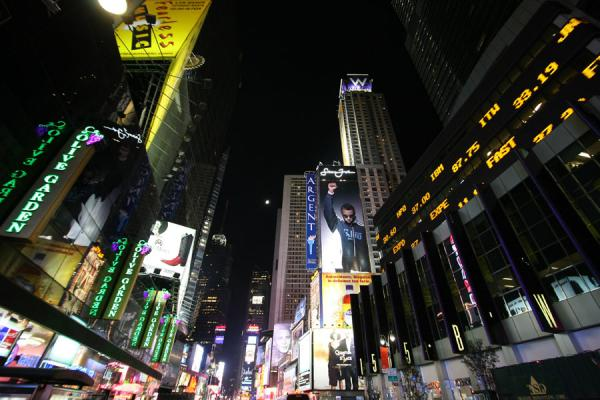 Foto van Advertising and information at Times SquareTimes Square - Verenigde Staten