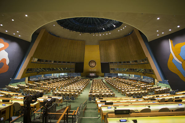 Picture of General Assembly Hall seen from the back