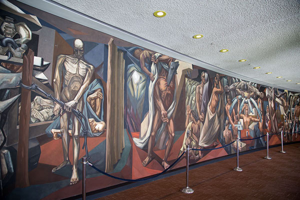 Painting by Zanetti depicting the struggle for peace and against superstition | United Nations Headquarters | U.S.A.