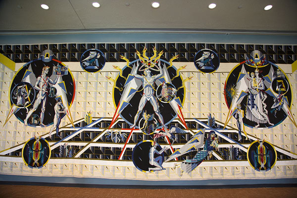 Picture of Tapestry donated by Ukraine depicting ChernobylNew York - United States