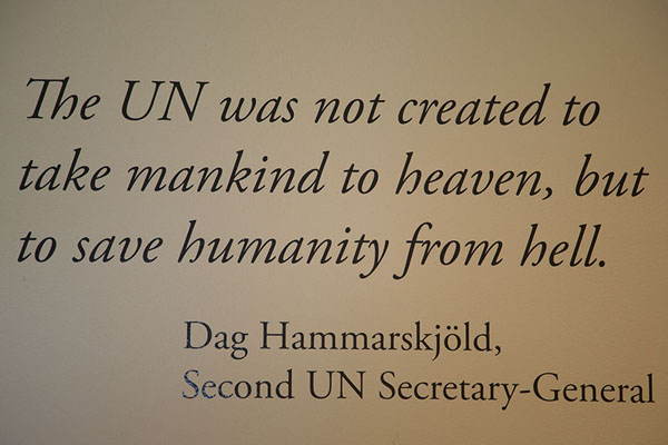 Photo de Quote from the second UN Secretary-General of the United NationsSiège des Nations Unies - les Etats-Unis