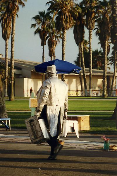 Picture of Going home in silver clothesVenice Beach - U.S.A.