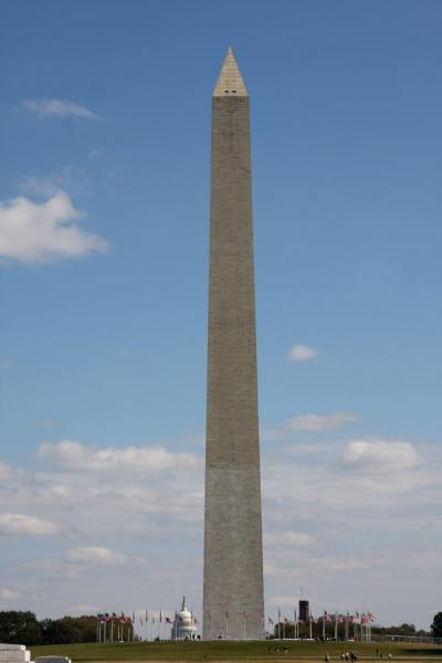 Washington Monument with Capitol building in the background | Washington Monument | U.S.A.
