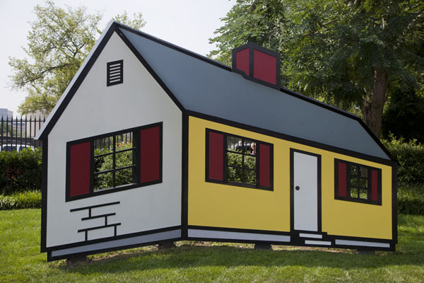 Picture of House I, a work by Roy Lichtenstein, attracts visitors because it plays with dimensionsWashington, DC - U.S.A.