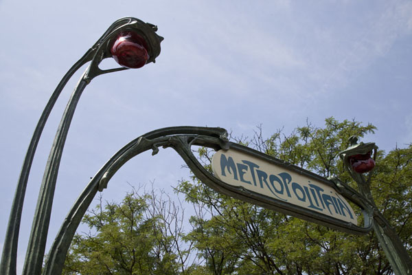 Entrance to the Paris Métropolitain in the typical Art Nouveau style | Sculpture Garden | U.S.A.