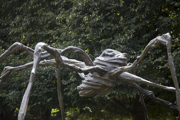 Picture of Spider, a bronze by Louise Bourgeois, in the central part of the Sculpture GardenWashington, DC - U.S.A.