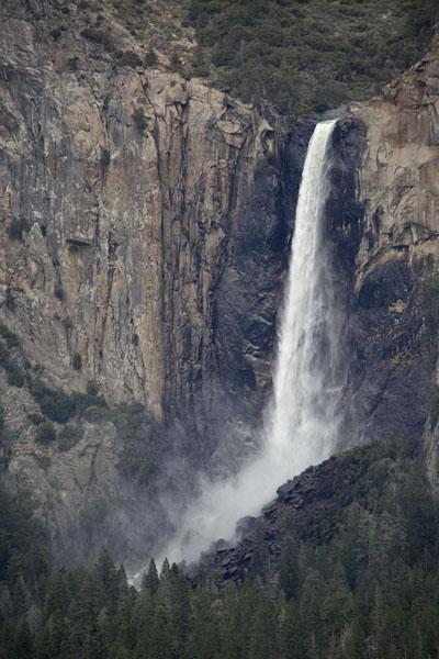 Picture of Upper Yosemite fall seen from across the valley