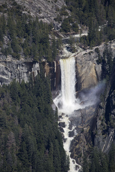 Nevada fall seen from a distance | Yosemite waterfalls | United States