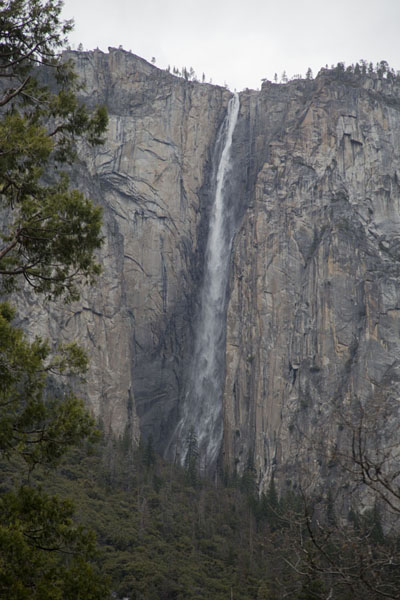 Ribbon fall, the longest single-drop waterfall in North America | Yosemite watervallen | Verenigde Staten