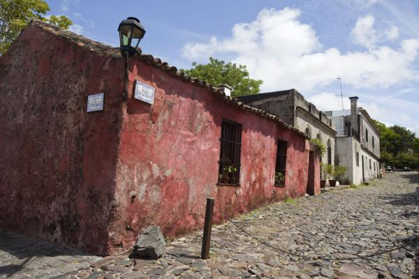 Picture of Calle de los Suspiros with old Portuguese style housesColonia - Uruguay