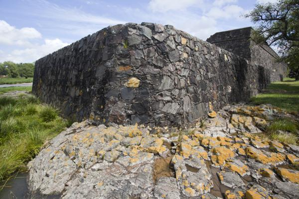 Picture of The original defensive walls of Colonia rising out of the seaColonia - Uruguay