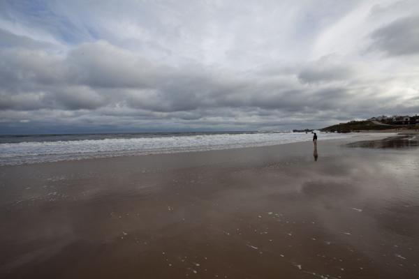 Picture of Lone person doing exercises on the beach of La PedreraLa Pedrera - Uruguay