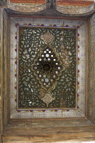 Picture of Bukhara Ark (Uzbekistan): Finely decorated ceiling of Juma Mosque