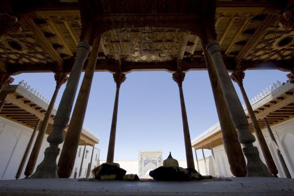 Coronation room seen from behind the platform | Bukhara Ark | Uzbekistan