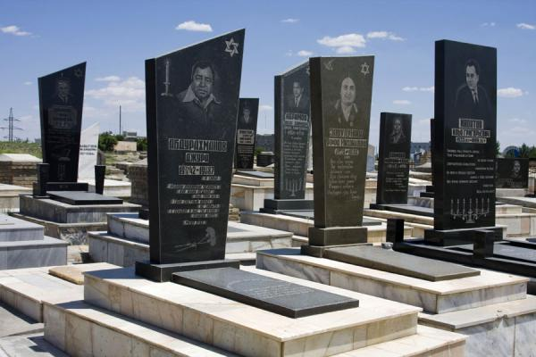 Picture of Uzbekistan (Some of the many tombstones at the Jewish Cemetery in Bukhara)
