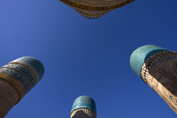Picture of Char Minar (Uzbekistan): The four towers of Char Minar seen from below