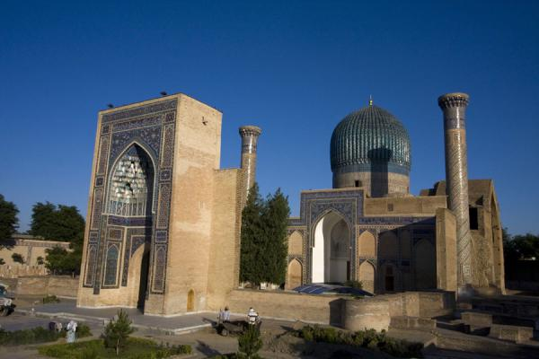 The Guri Amir mausoleum complex in the afternoon | Mausoleo di Guri Amir | Uzbekistan