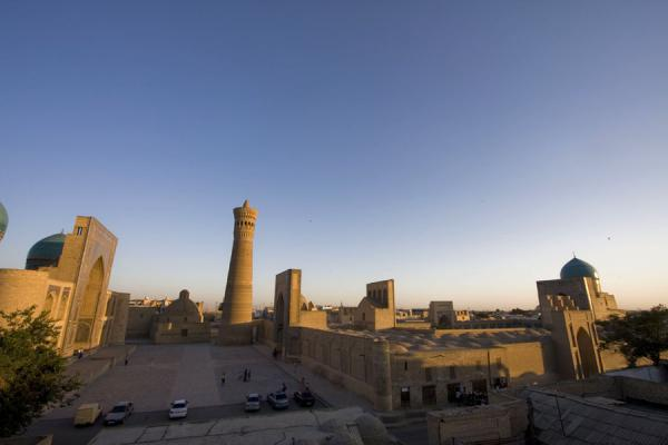 Picture of Kalon Minaret (Uzbekistan): Sun setting over Kalon mosque and minaret