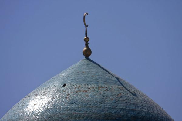 Photo de Top of the green dome of the Kalon mosqueBoukhara - Ouzbékistan