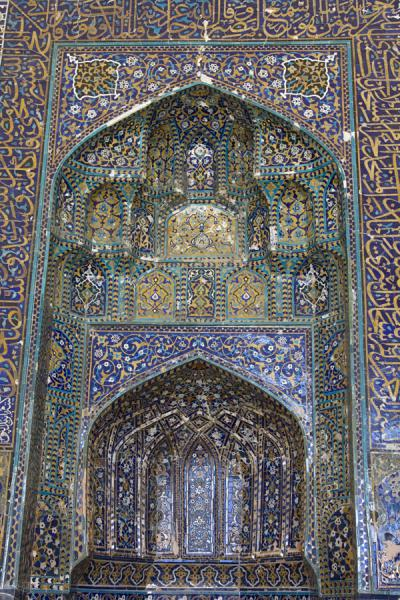 Picture of Decorations on a wall in the Kalon mosqueBukhara - Uzbekistan