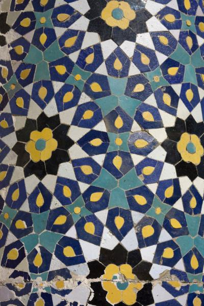 Photo de Close-up of a decoration on the Kalon mosqueBoukhara - Ouzbékistan