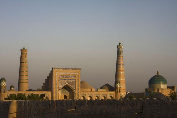 Picture of Khiva (Uzbekistan): Medressas and minarets seen from the city walls