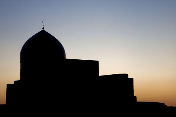 Picture of Silhouette of the Mir-i-Arab medressa at duskBukhara - Uzbekistan