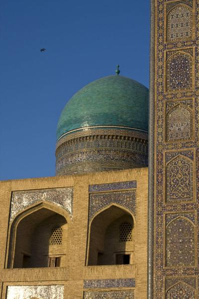 Picture of Part of the portal, arches and dome of the Mir-i-Arab medressaBukhara - Uzbekistan