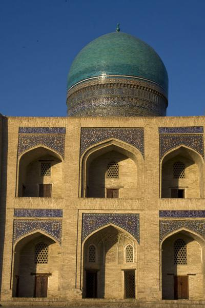 Photo de Part of the facade of the Mir-i-Arab medressaBoukhara - Ouzbékistan