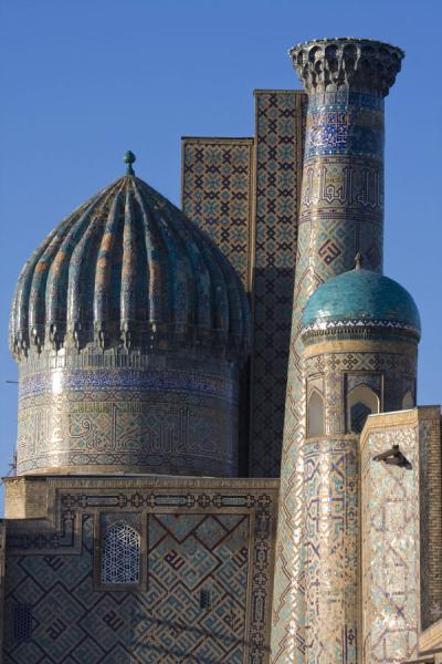 Picture of Ensemble of towers and domes of the Sher Dor medressaSamarkand - Uzbekistan