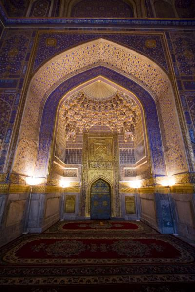 Photo de The main area of the mosque of Tilla-Kari medressaSamarcande - Ouzbékistan