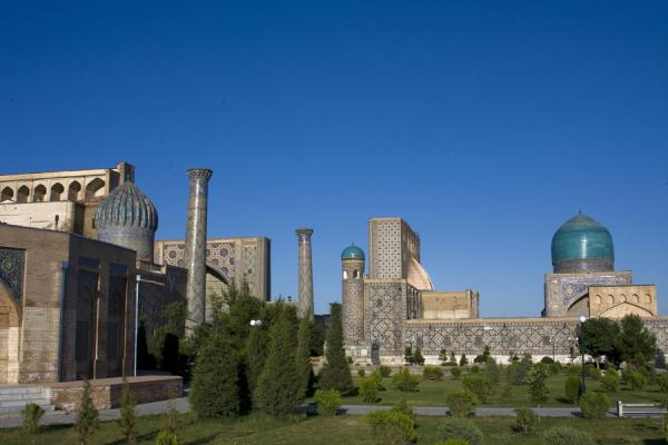 Picture of View of the Registan from the gardens to the eastSamarkand - Uzbekistan