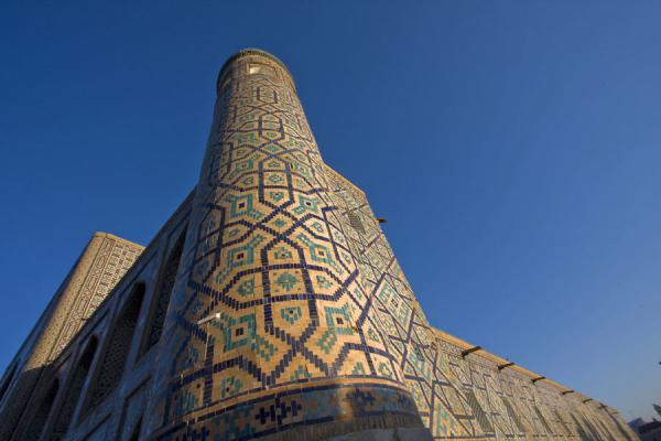 Picture of Tilla-Kari medressa seen from belowSamarkand - Uzbekistan