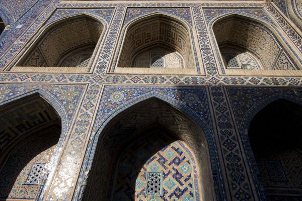 Picture of Decorated arches in the courtyard of the Ulugbek medressaSamarkand - Uzbekistan