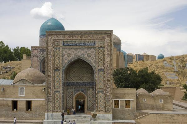 Picture of Shah-i-Zinda mausolea (Uzbekistan): Entrance of the Shah-i-Zinda mausolea