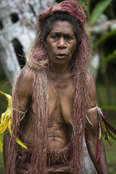 Picture of Old Big Namba woman during a performanceMae - Vanuatu