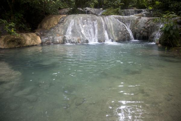 One of the delightful pools of Mele cascades - hard to resist | Mele Cascades | St Vincent en de Grenadines