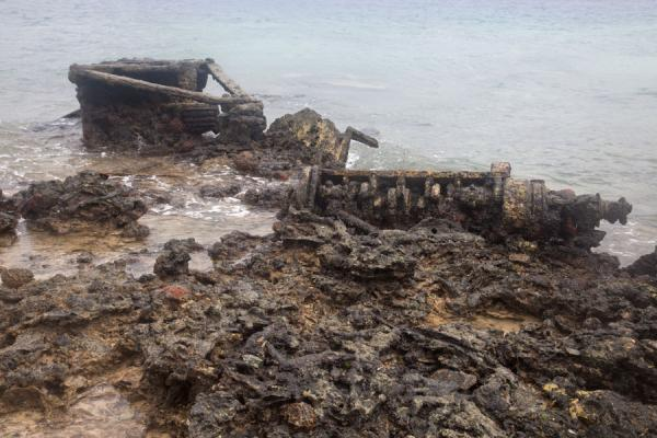 Picture of Dumped military material exposed at low tide - Vanuatu - Oceania