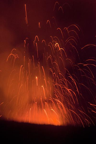 Picture of Mount Yasur (Vanuatu): Fountain of fire erupting from the crater of Mount Yasur