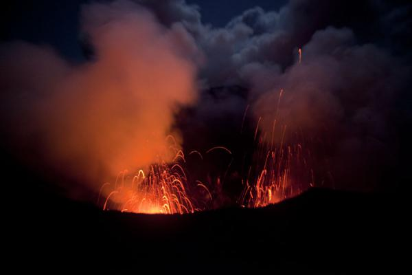 Twin eruption of both craters of Mount Yasur | Mount Yasur | Vanuatu