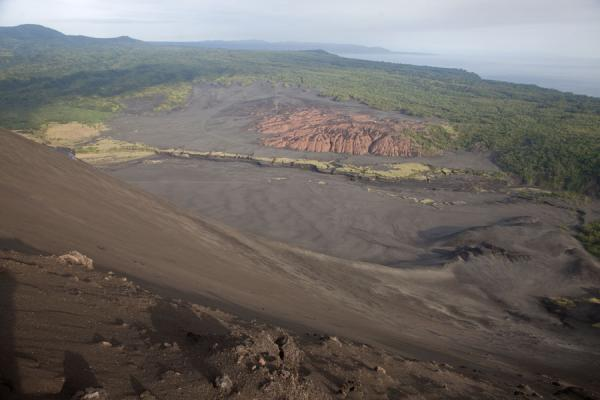 The ash plain seen from the crater rim | Mount Yasur | Vanuatu