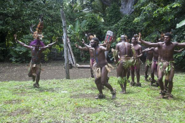 Picture of Nemalits Small Namba's (Vanuatu): Small Namba's performing one of their dances