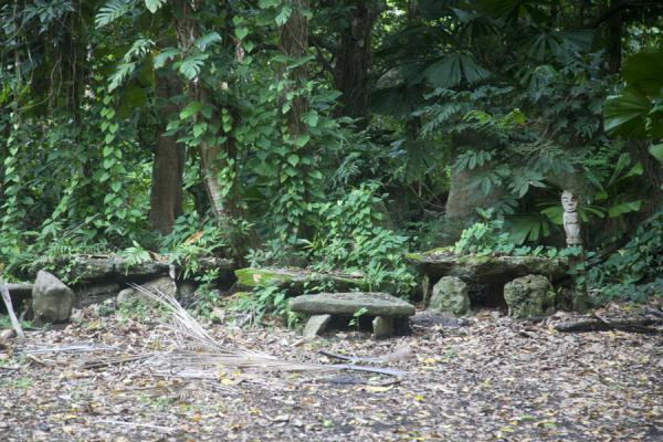 Picture of Wala Island (Vanuatu): Family stones at the nasala of Wala Island