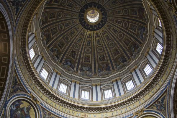 Central dome of Saint Peters basilica | Saint Peters Basilica | Vatican City